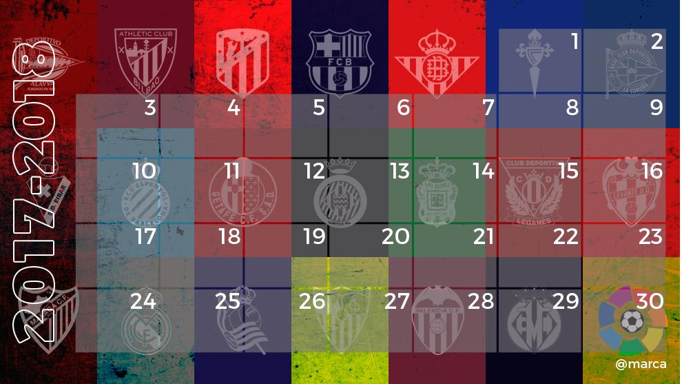 Calendario LaLiga Santander 2017-2018 - MARCA.com