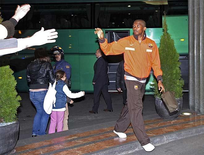 Etoo llega al hotel