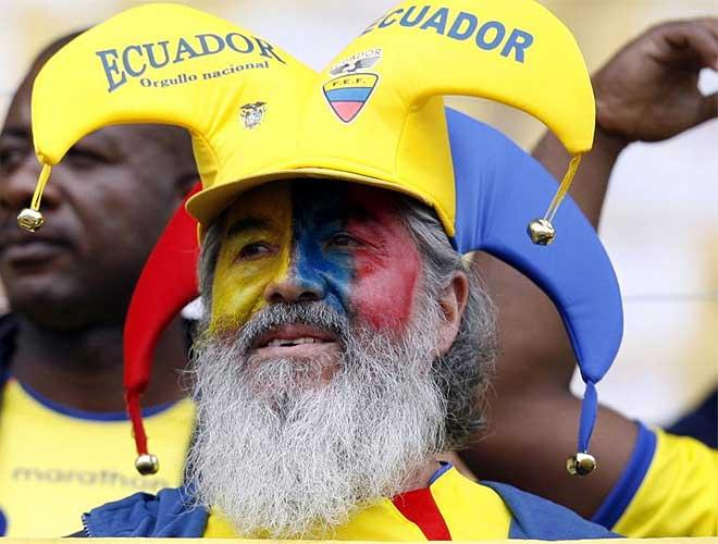 Un aficionado de Ecuador