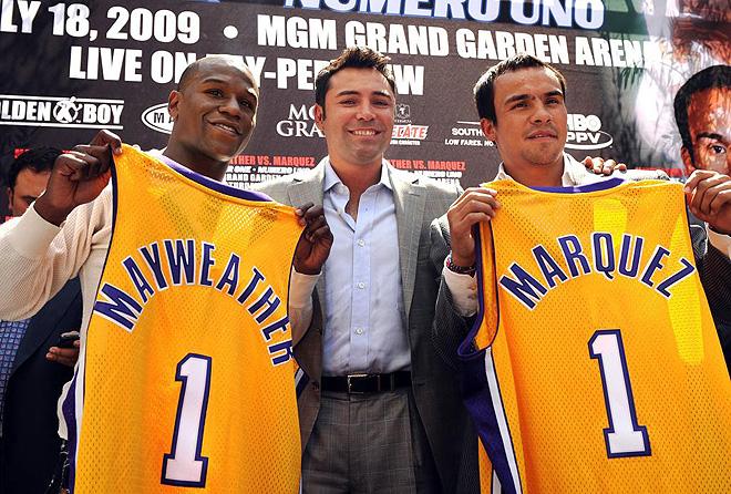 Floyd Mayweather Jr. y Juan Manuel M�rquez