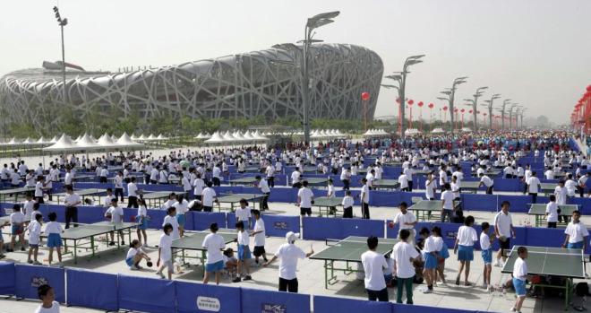 Ping pong en Pek�n