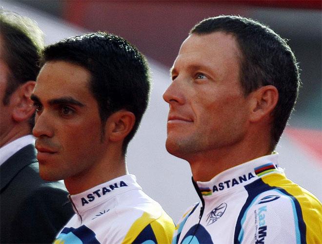 Contador y Armstrong