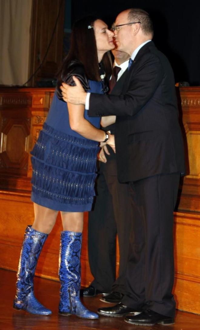 Isinbayeva y Alberto de M�naco