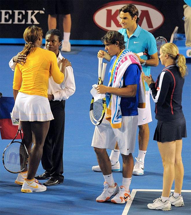 Nadal, Federer, Serena Williams y Clijsters