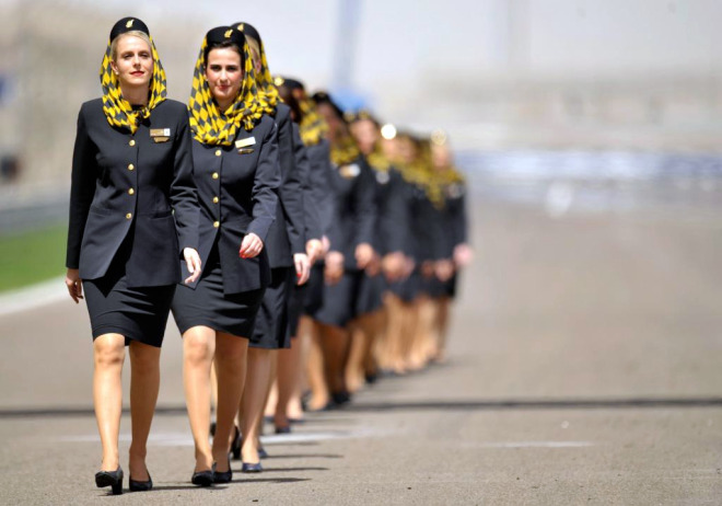 Azafatas de Gulf Air