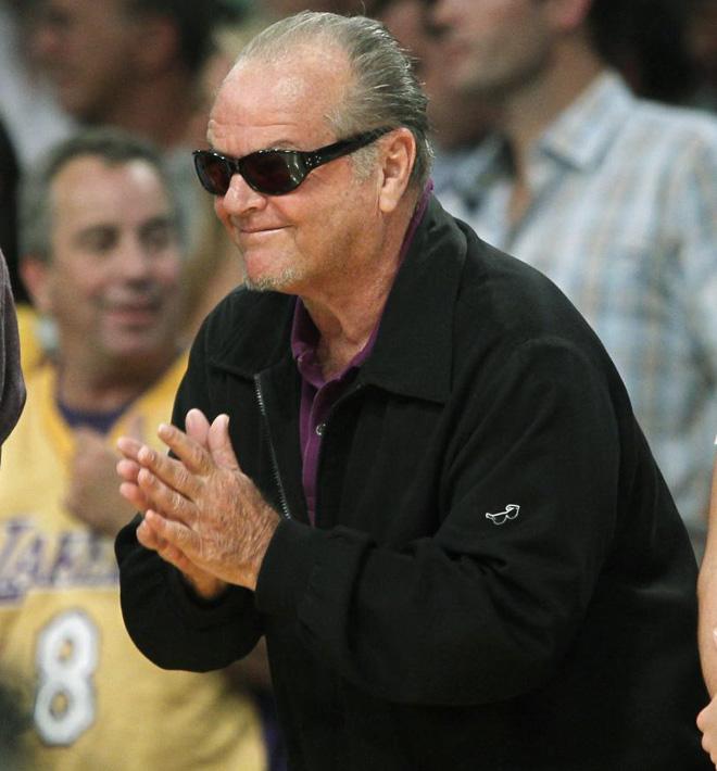 Jack Nicholson nunca falta a su cita con los Lakers, y en un partido tan importante mucho menos.