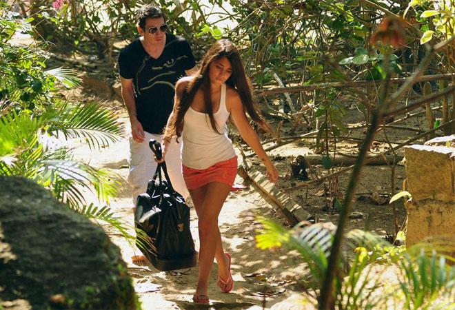 Messi con su novia