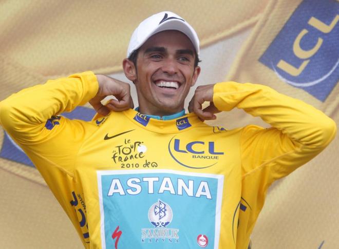 Alberto Contador estaba radiante en el podio del Tourmalet consciente de que hab�a pasado con �xito una dur�sima etapa para conseguir su tercer Tour.