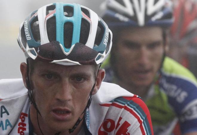 Van Den Broeck era uno de los hombres a tener en cuenta porque pod�a dar la sorpresa en la ascensi�n al Tourmalet.
