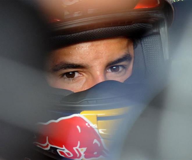 Marc M�rquez, que se cay� en los primeros libres en Brno, es seria duda para la carrera del domingo.