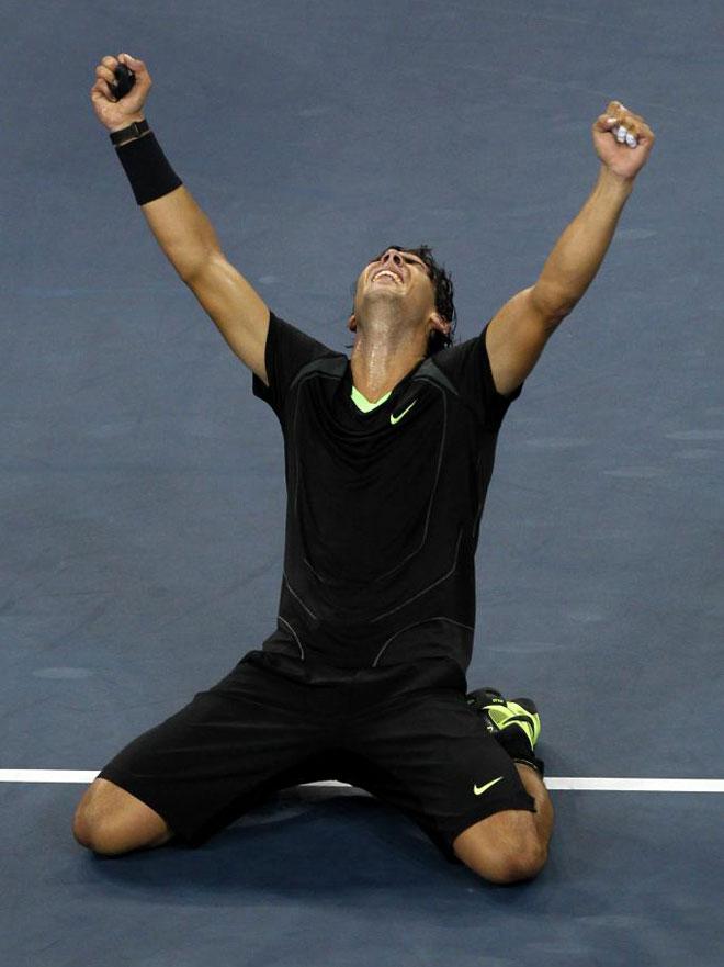 Rafa Nadal se emocion� tras vencer a Djokovic y ganar el US Open, el �ltimo torneo que le faltaba para conseguir el Grand Slam.