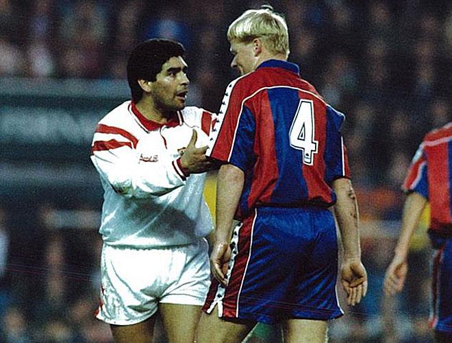 El crack argentino s�lo estuvo en el club hispalense durante la temporada 92-93 y, despu�s, regres� a su pa�s.