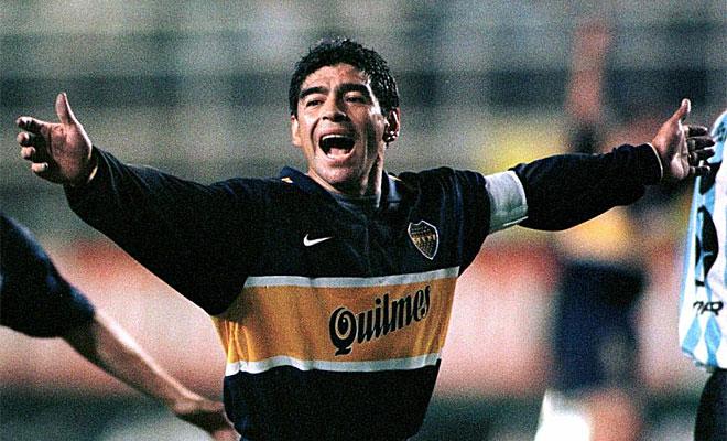 Maradona se retir� en el club de sus amores, Boca Juniors, en el a�o 1997