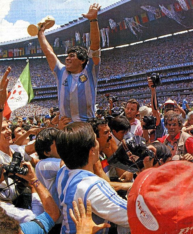 M�xico encumbr� al Pelusa gracias a su actuaci�n memorable ante Inglaterra y a la consecuci�n del campeonato del mundo