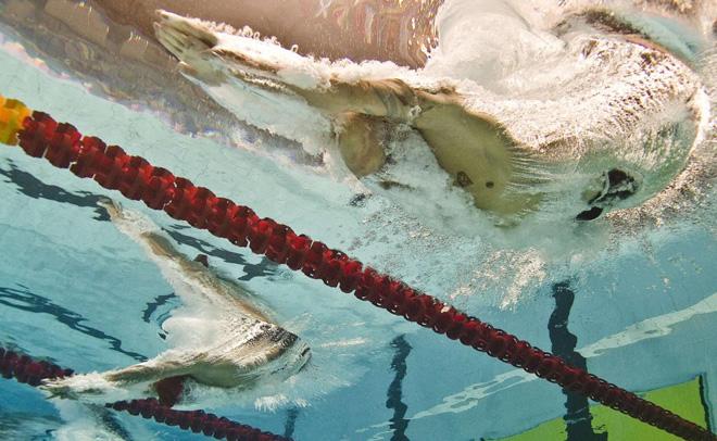 El nadador canadiense Brent Hayden compitiendo en la prueba de los 100 libre de los Juegos de la Commonwealth.