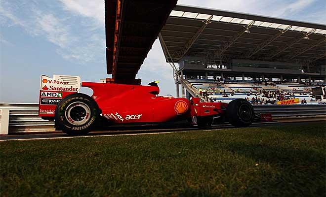 Fernando Alonso logr� el tercer mejor tiempo en la sesi�n de calificaci�n en Corea y saldr� tras los Red Bull.