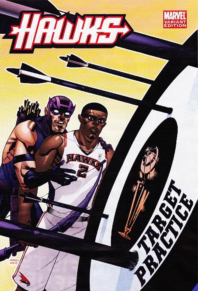 La cadena ESPN y la Marvel han creado unas originales portadas para una de las franquicias NBA. Iron�a, algo de s�tira y calidad para definir en clave superh�roes a todas las franquicias NBA.