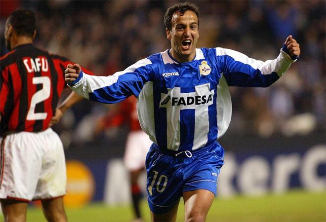 El m�tico jugador del Deportivo de la Coru�a lider� a su equipo en la �poca remontada ante el Milan.