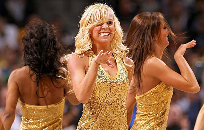 Las animadoras de los Denver Nuggets son buen reflejo del partidazo que se marc� esta pasada madrugada su equipo, donde barrieron a los Blazers de Rudy.