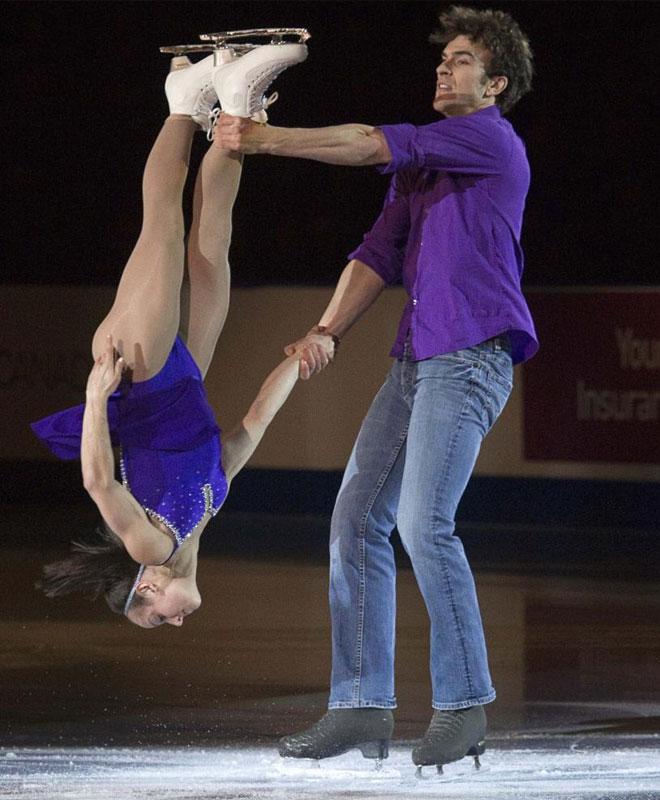 Meagan Duhamel y Eric Radford, en el 'Canadian Figure Skating Championships'.