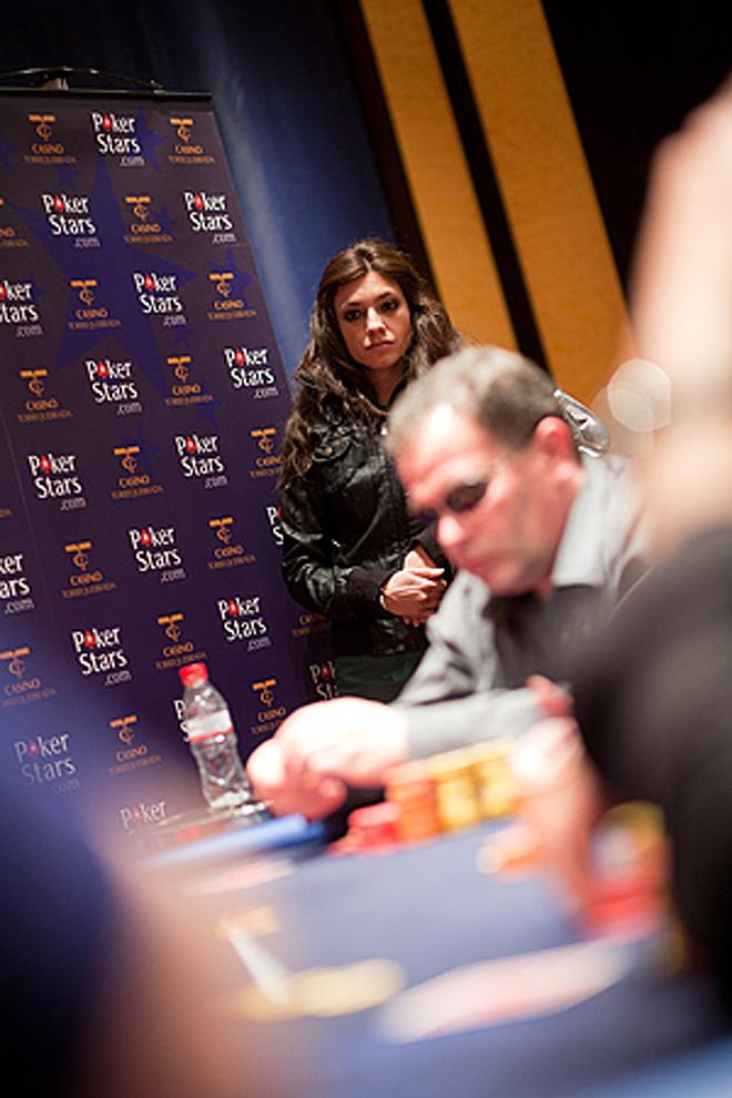 Vanesa Sáez fue la anfitriona de la parada malagueña del Estrellas Poker Tour.