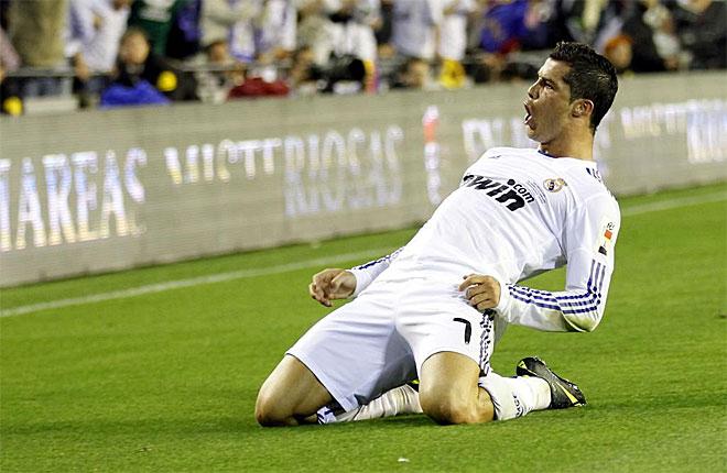 Cristiano ha marcado un tanto en la primera parte de la pr�rroga que puede darle al Madrid su decimoctava Copa del Rey 17 a�os despu�s.