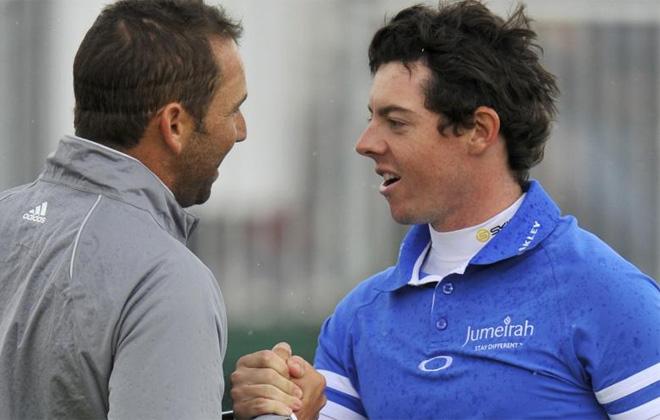 Rory McIlroy y Sergio Garc�a compartieron partido en la �ltima jornada del British.