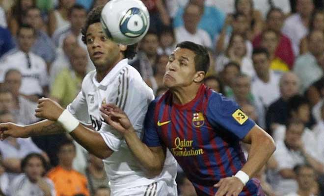 De inicio, Alexis fue el único debutante en el Clásico, junto a Thiago Alcántara. Por el Madrid, Callejón y Coentrao empezaron en el banco.