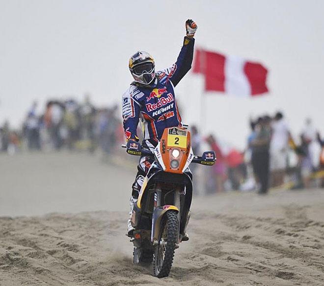 El piloto francés de KTM confirmó en la última etapa su cuarto triunfo en el rally.