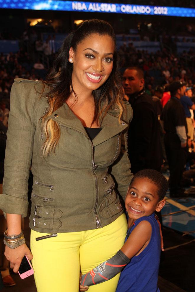 Lala Vasquez, esposa de Carmelo Anthony, no quiso perderse la gran fiesta del baloncesto estadounidense.