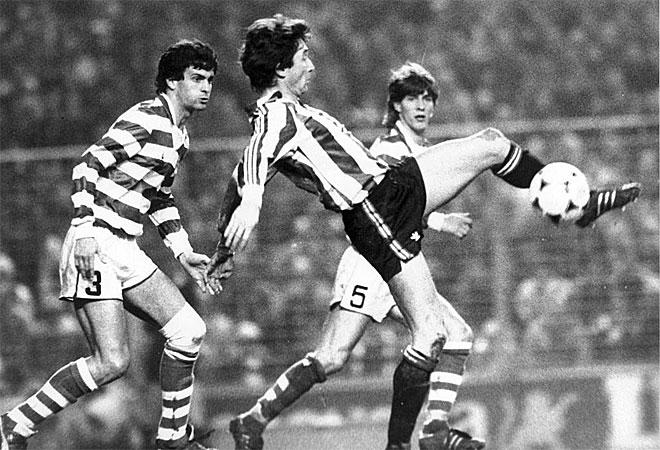 En San Mamés, el Athletic se impuso por 2-1 con goles de Sarabia y Julio Salinas. El partido de vuelta terminaría con 3-0 para el equipo portugués.