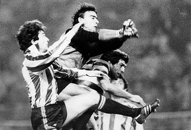 Damas no logró detener los ataques bilbaínos en el partido de ida, pero sí en la vuelta.