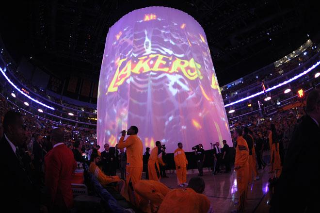 As� se presentan los Lakers en el Staples Center