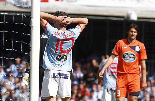 El Celta cay� en el derbi contra el Deportivo en Bala�dos. Despu�s de levantar un 0-2 cay� 2-3 en el tiempo a�adido.