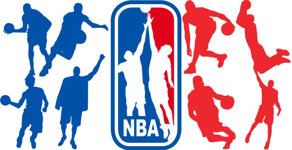 El logo de la NBA en versión las estrellas de hoy en día