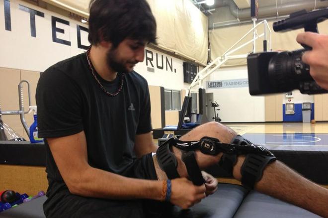 El �BA de los Wolves ha comenzado una nueva fase en su recuperaci�n. Ricky trota con ayuda de la t�cnica y hace ejercicios para coger fuerza. Rubio estrena zapatillas y sigue optimista tras entrenar casi dos horas.