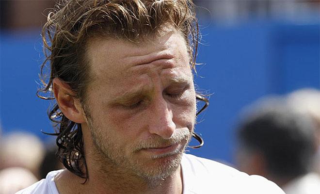 Al tenista argentino se le qued� esta cara tras perder la final de Queens por su absurdo comportamiento.