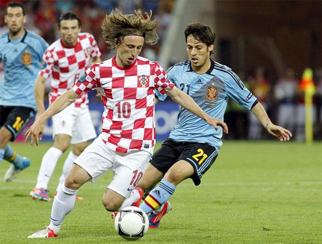Luka Modric fue el cerebro de Croacia. Le puso a Mandzukic un bal�n que s�lo Casillas pudo detener.
