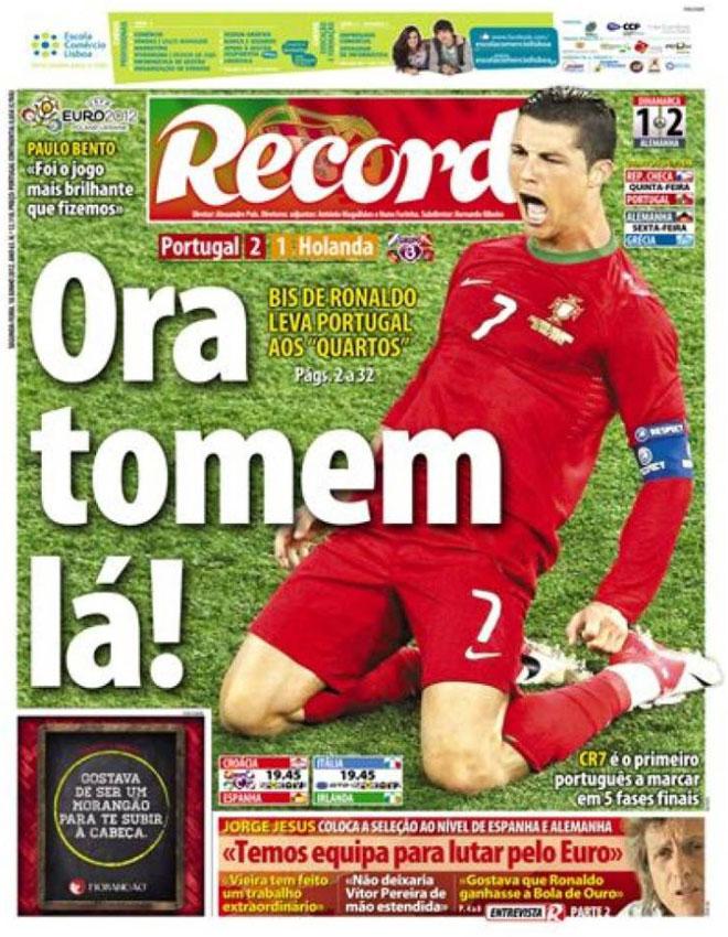 """El regreso de la mejor versi�n de Cristiano Ronaldo con la selecci�n lusa de f�tbol ha sido recibida en Portugal con satisfacci�n, disipando dudas y elevando al capit�n de las """"quinas"""" a la condici�n de �dolo una vez m�s."""