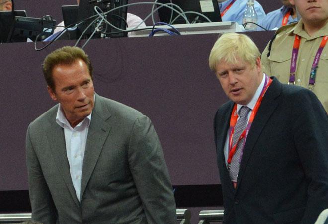 Arnold Schwarzenegger y Boris Johnson, alcalde de Londres, disfrutaron de una final ol�mpica de leyenda entre Espa�a y Estados Unidos.