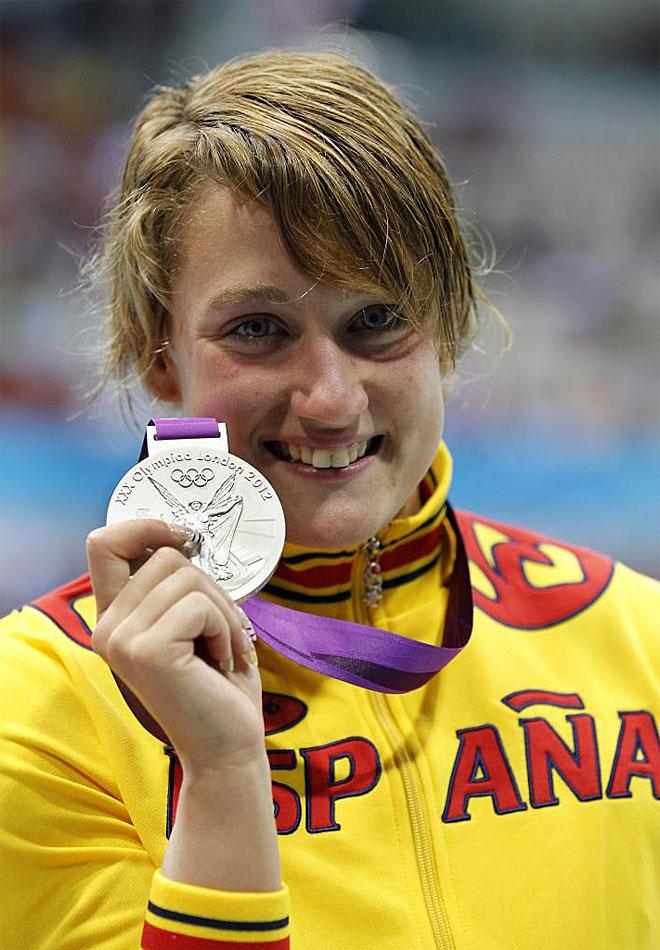 Mireia Belmonte gan� la primera medalla para Espa�a en los Juegos de Londres. Fue en los 200 mariposa y fue de plata.