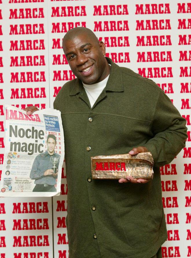 Magic Johnson ha sido uno de los mejores bases de la historia. Con motivo de su 53 cumplea�os, NBA.es y MARCA.con le rinden este merecido tributo en im�genes.