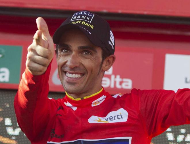 Alberto Contador volvi� a 'disparar' un triunfo en una Grande. Esta vez, en la que es su segunda Vuelta a Espa�a.