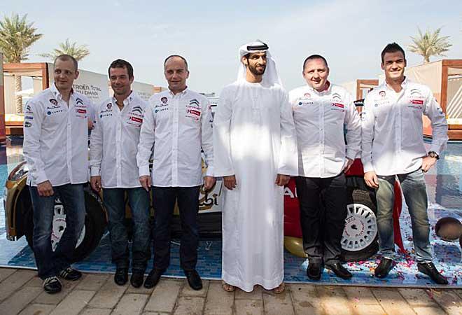 Los miembros del equipo Citroën, junto con el inversor árabe.