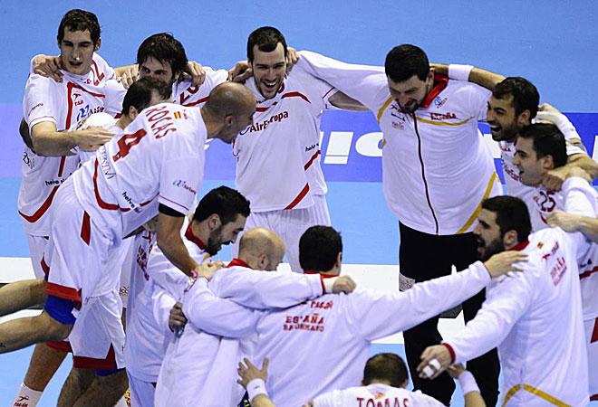 España celebró a lo grande el pase alos cuartos de final del Mundial.