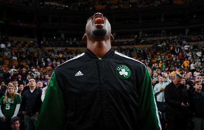 Jeff Green, jugador de los Celtics, en los proleg�menos del partido del partido en el que Boston se impuso a los Lakers.