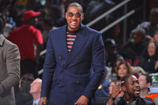 El estilismo de Carmelo Anthony... dej� a algunos sin palabras