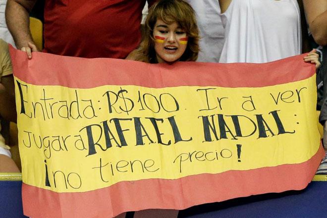 Rafa Nadal es un auténtico ídolo de masas en el mundo, situación que se ha notado en el apoyo recibido por la afición sudamericana en la gita sobre tierra batida. Y es que no todos los días se puede ver al balear en directo...
