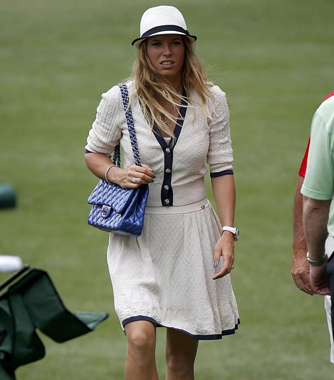 La tenista Caroline Wozniacki no quiso perderse ningún detalle de su novio Rory McIlroy.
