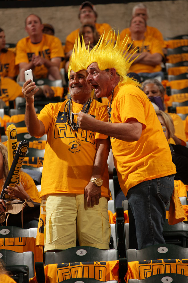 Los aficionados de los Pacers se entregaron en cuerpo y alma para que su equipo ganase y eliminase a los Knicks.